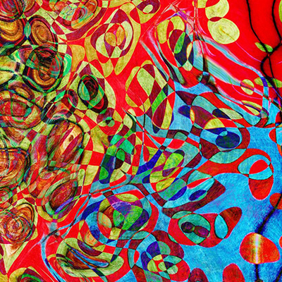 11984841 - watercolor abstract pattern. computer generated illustration.